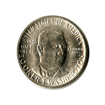 US Commemorative Half Dollar 1946 Booker T Washington BU