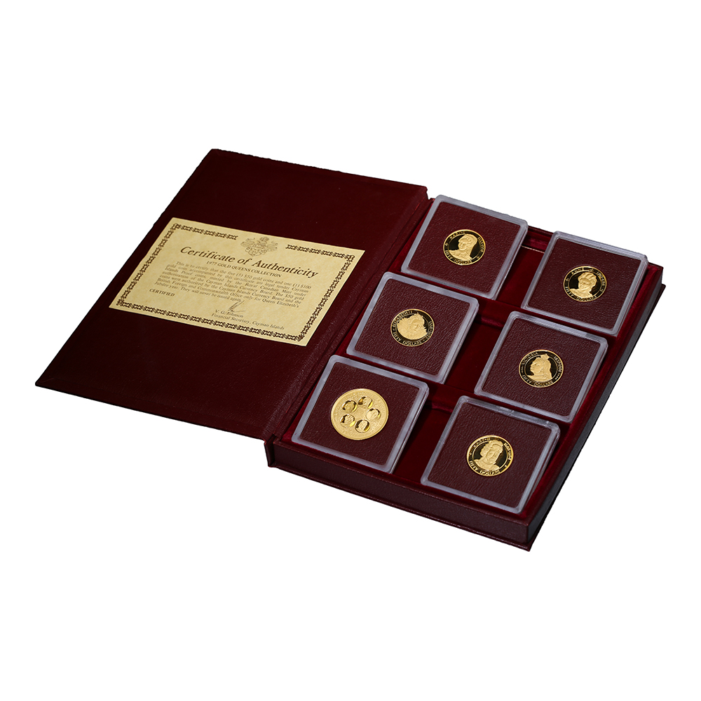 Cayman Islands 6 Piece 1977 Gold Queens Collection PF