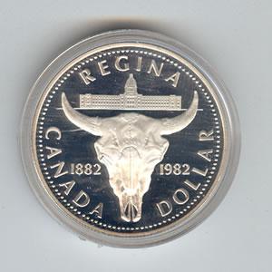 Canada 1982 Silver Dollar Regina Golden Eagle Coins