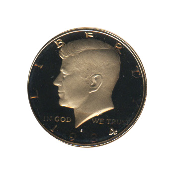 Kennedy Half Dollar 1984-S Proof