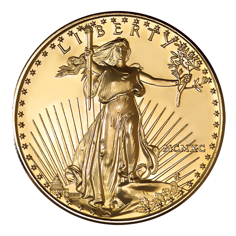1990 American Gold Eagle 1oz Uncirculated