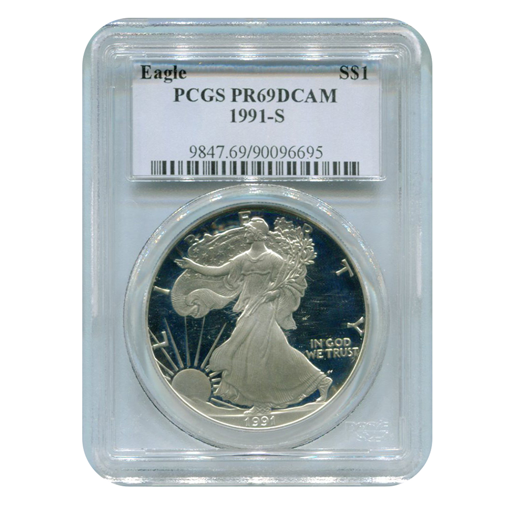 Certified Proof Silver Eagle 1991-S PR69DCAM PCGS
