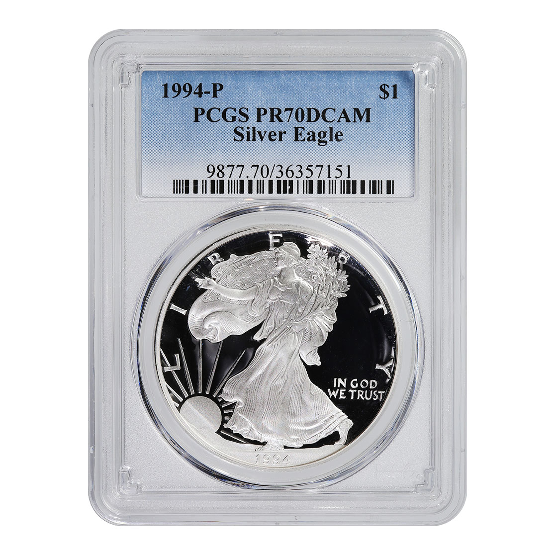 Certified Proof Silver Eagle 1994-P PR70DCAM PCGS