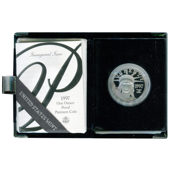 Platinum American Eagle Proof 1997 One Ounce with Box