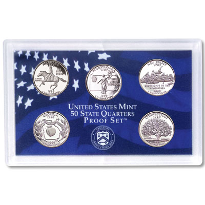 US Proof Set Statehood Quarters Without Box 1999