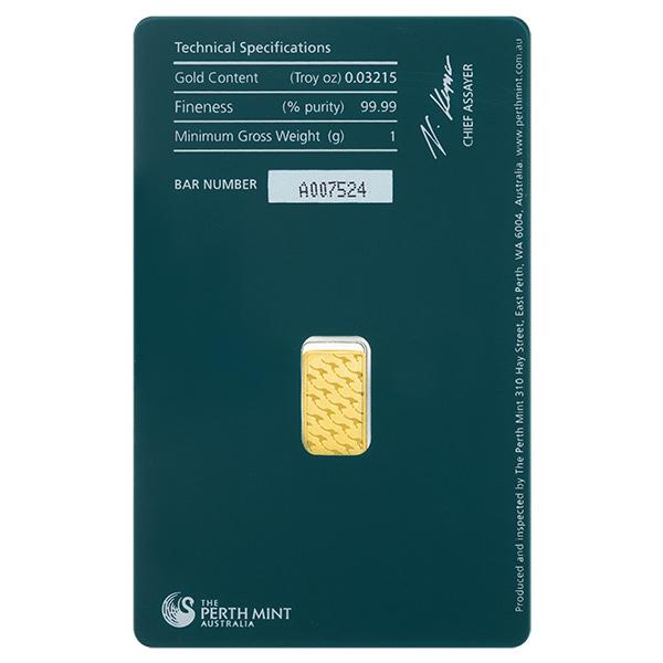 Gold Bars Perth Mint 1 Gram Gold Bar Golden Eagle Coins