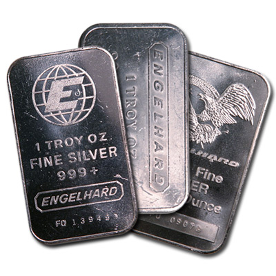 Engelhard Silver Bar 1 Oz Random Design Golden Eagle Coins