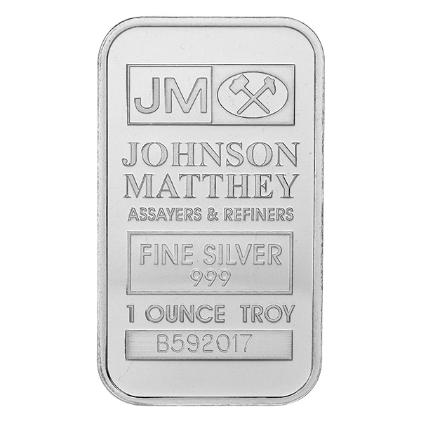 Johnson Matthey 1 oz Silver Bar