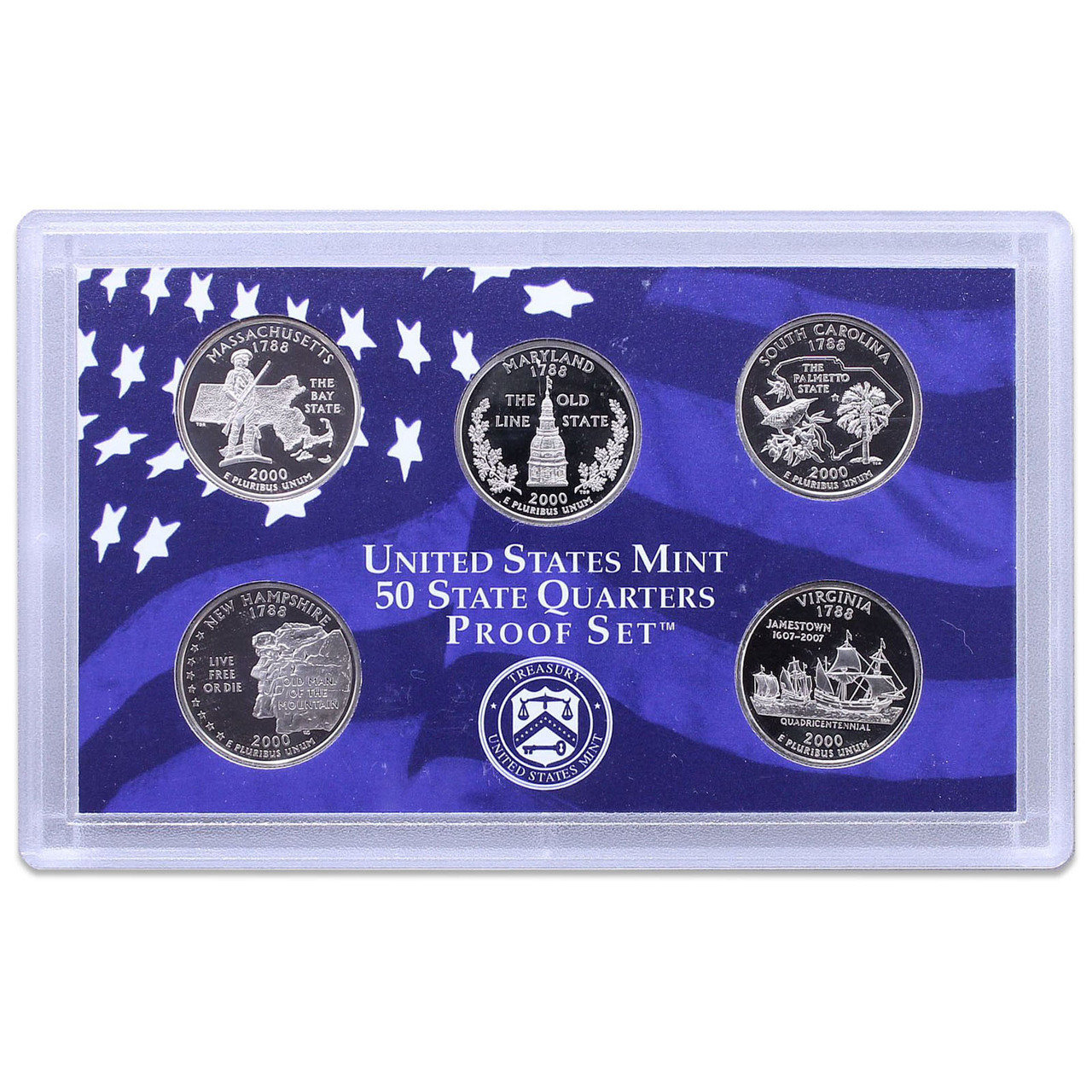 US Proof Set Statehood Quarters Without Box 2000