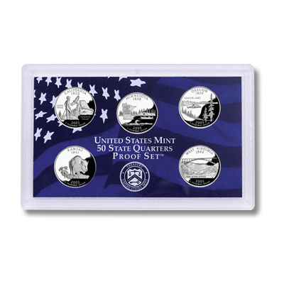 US Proof Set Statehood Quarters Without Box 2005