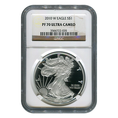 Certified Proof Silver Eagle 2010-W PF70 NGC