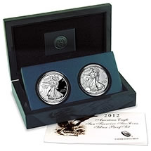 American Silver Eagle 2 Coin 2012 San Francisco Proof Set
