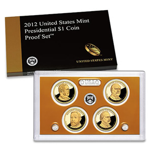 US Presidential Dollar 4pc Proof Set 2012
