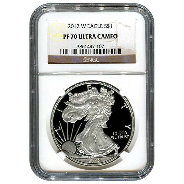 Certified Proof Silver Eagle 2012 PF70 NGC