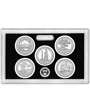 US Proof Set America the Beautiful Silver Quarters Without Box 2013
