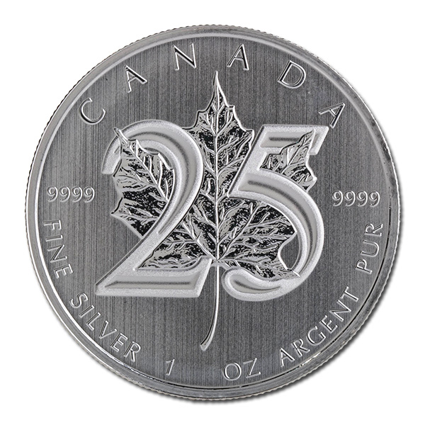 2013 Silver Maple Leaf 1 Oz Uncirculated 25th