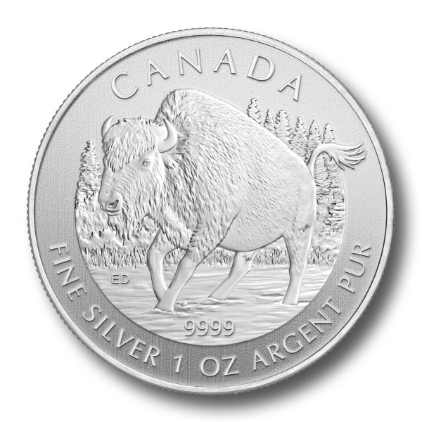 Canadian Silver 1 oz Wood Bison 2013