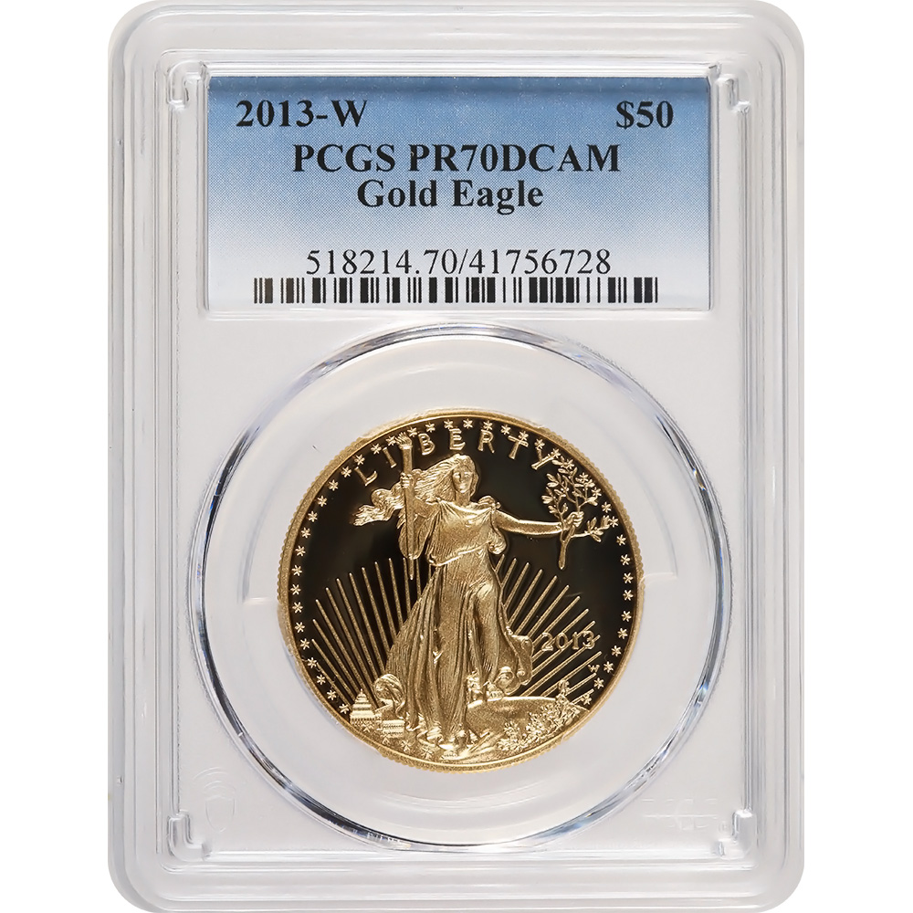 Certified Proof American Gold Eagle $50 2013-W PR70DCAM PCGS