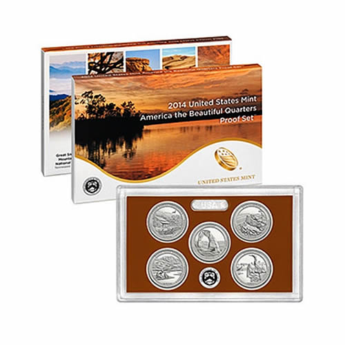 US Proof Set 2014 5pc (Quarters Only) America The Beautiful