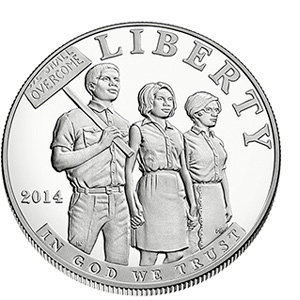 US Commemorative Dollar Proof 2014 Civil Rights
