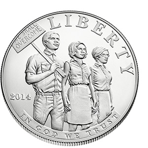 US Commemorative Dollar Uncirculated 2014 Civil Rights