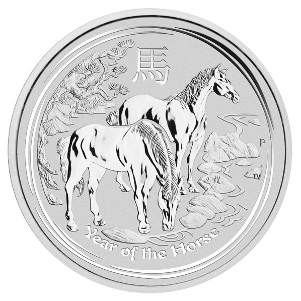 Australian Lunar Silver 1 oz Silver Series II 2014 Horse