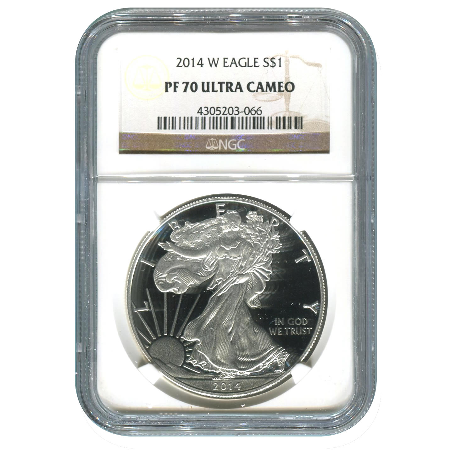 Certified Proof Silver Eagle 2014-W PF70 NGC