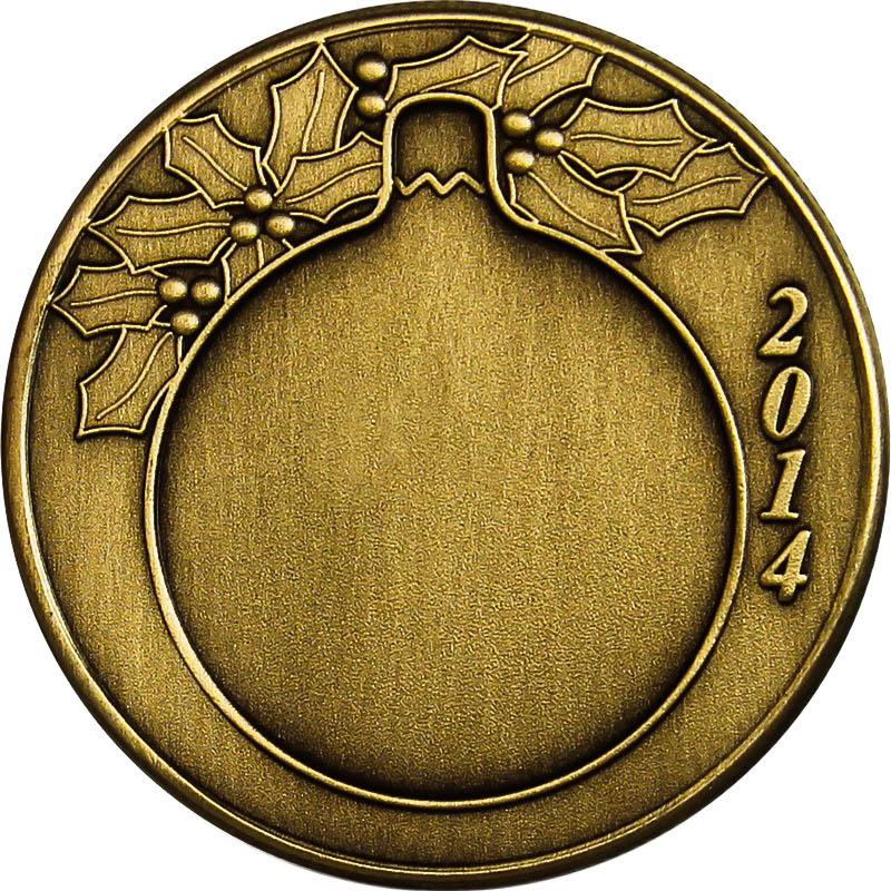christmas 2014 bronze coin bx 11 candy cane golden eagle coins