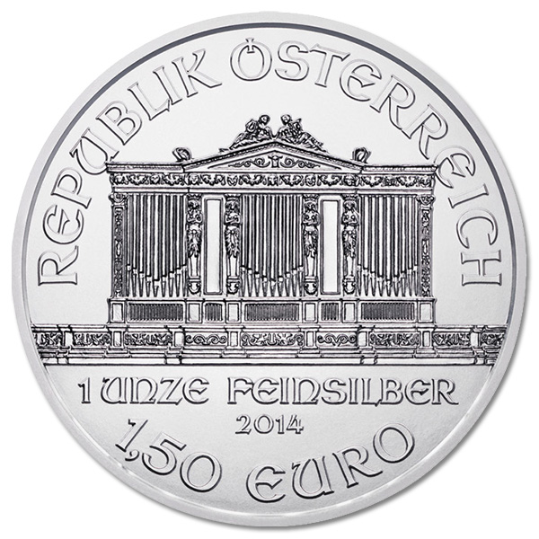 Austrian Philharmonic Silver One Ounce 2014