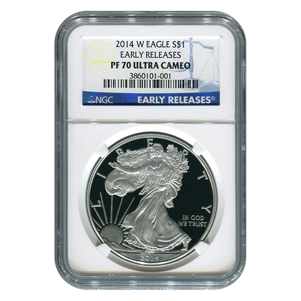 Certified Proof Silver Eagle 2014-W PF70 NGC (Early Release)