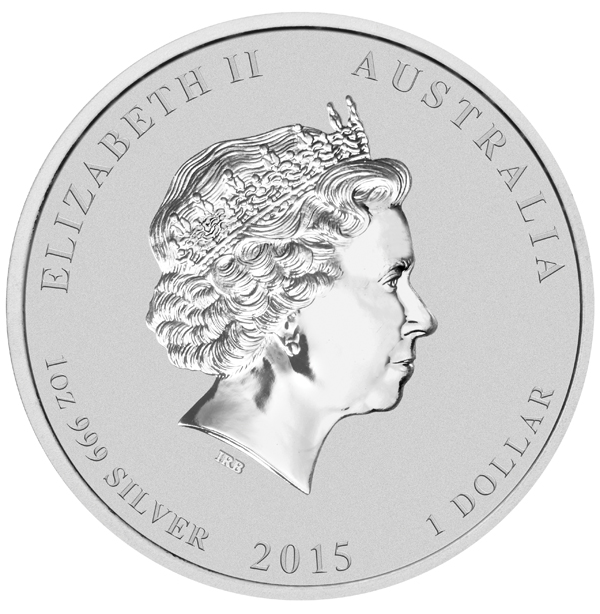 Australian Lunar Silver 1 oz Silver Series II 2015 Goat