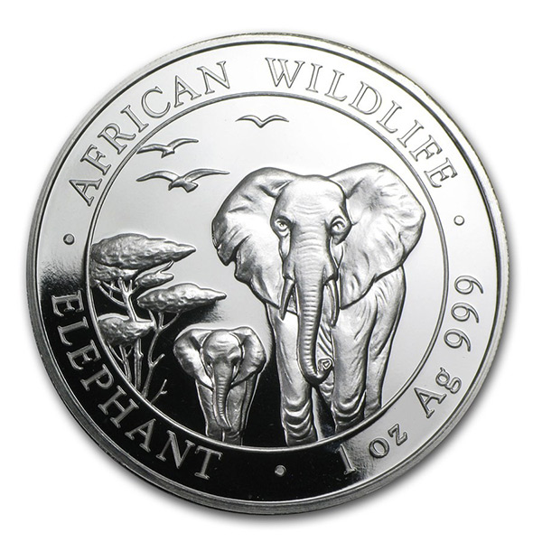 2015 Somalia 1 oz Silver Elephant Coin