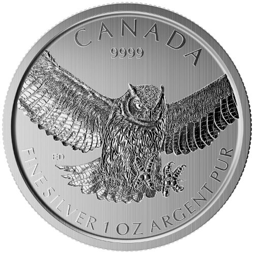 Canadian Birds of Prey Series 1 oz Great Horned Owl 2015