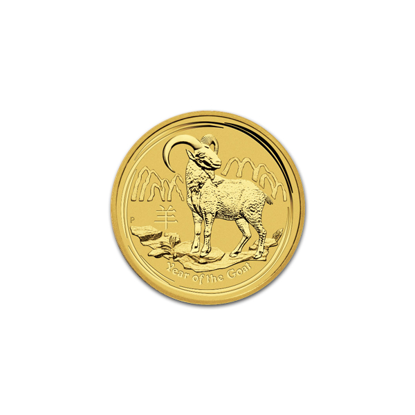Australian Series Ii Lunar Gold Tenth Ounce 2015 Goat