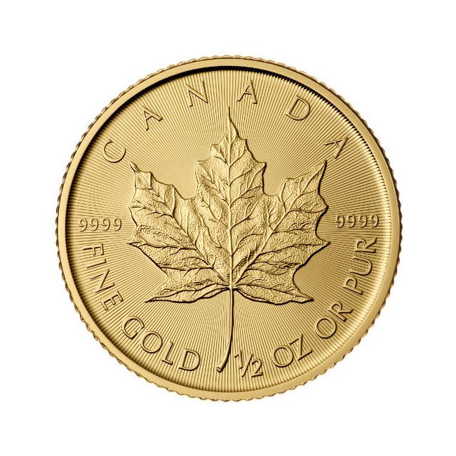2016 1/2 oz Canadian Gold Maple Leaf Uncirculated