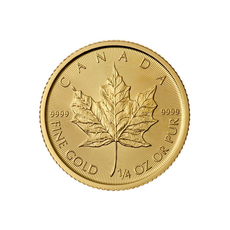 2016 1/4 oz Canadian Gold Maple Leaf Uncirculated