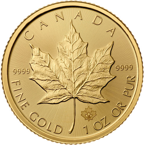 OBVERSE - 2016 1 oz Canadian Gold Maple Leaf Uncirculated