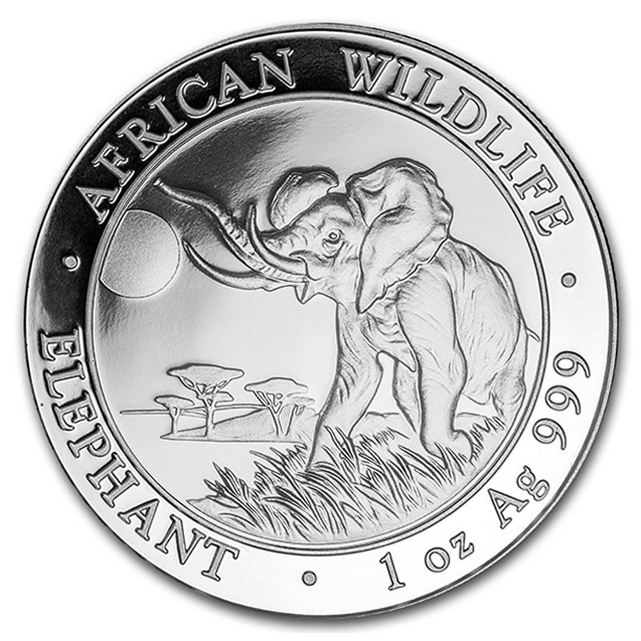 2016 Somalia 1 oz Silver Elephant Coin