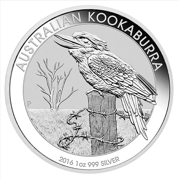 Obverse 2016 Australian Kookaburra 1 Oz Silver Coin