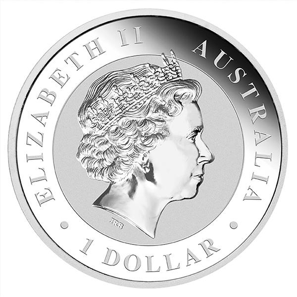Reverse 2016 Australian Kookaburra 1 Oz Silver Coin