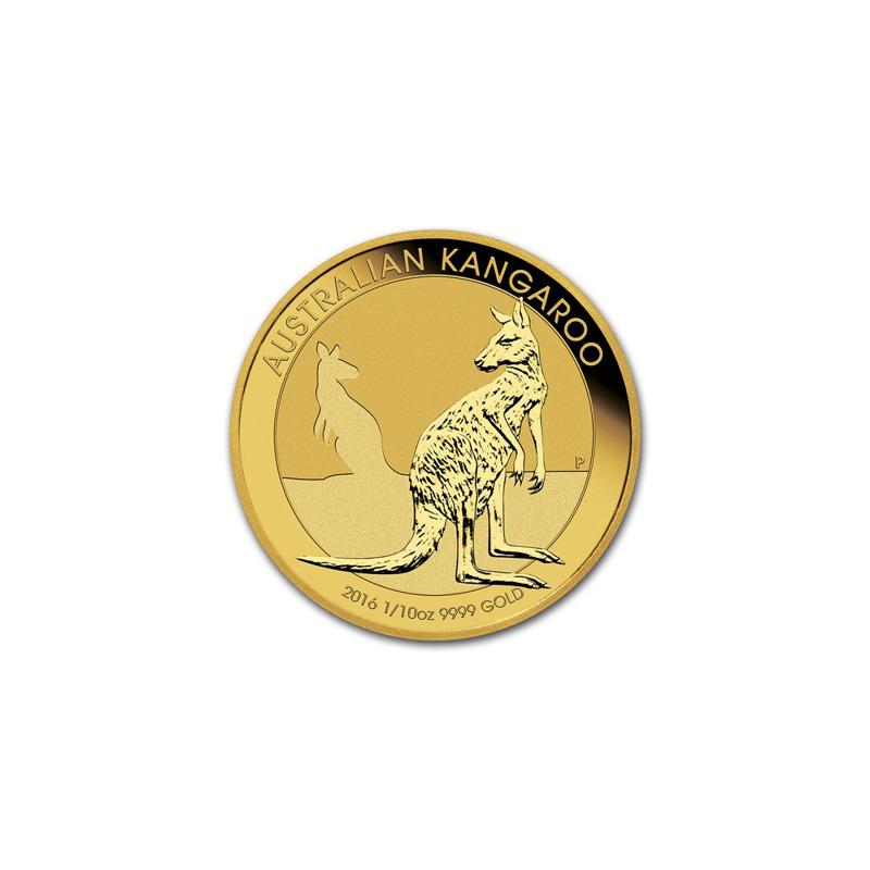 Obverse - 2016 Australia Gold Kangaroo 1/10 oz