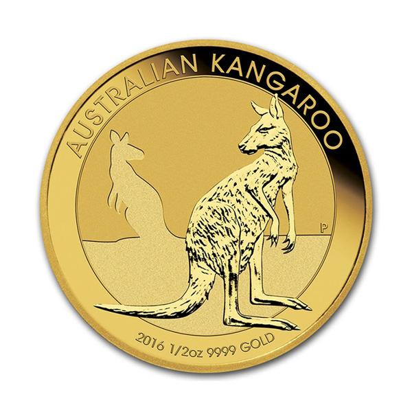Obverse - 2016 Australia Gold Kangaroo 1/2 oz