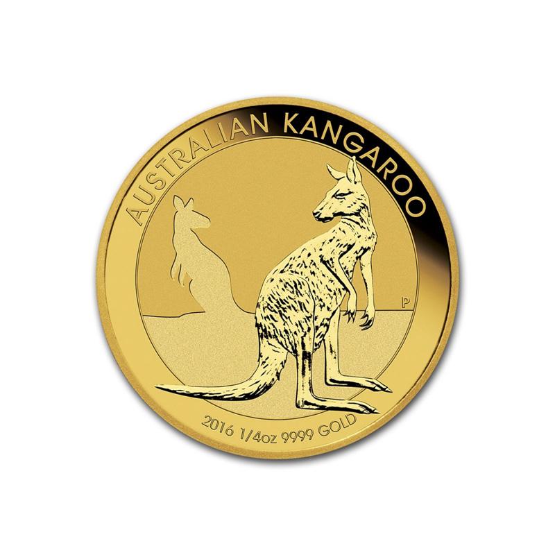 Obverse - 2016 Australia Gold Kangaroo 1/4 oz