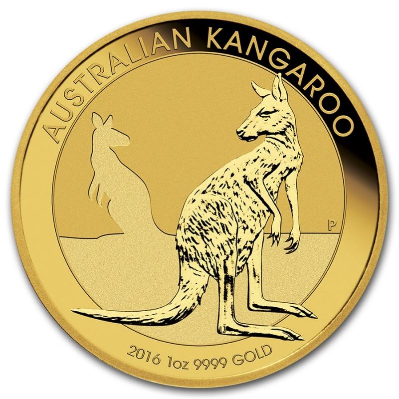 Obverse - 2016 Australia Gold Kangaroo 1 oz