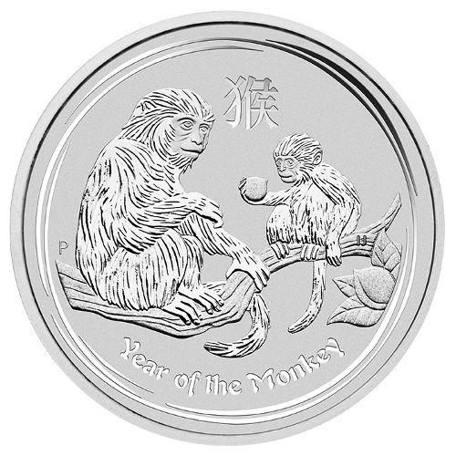 Australian Lunar Silver 1 oz Silver Series II 2016 Monkey