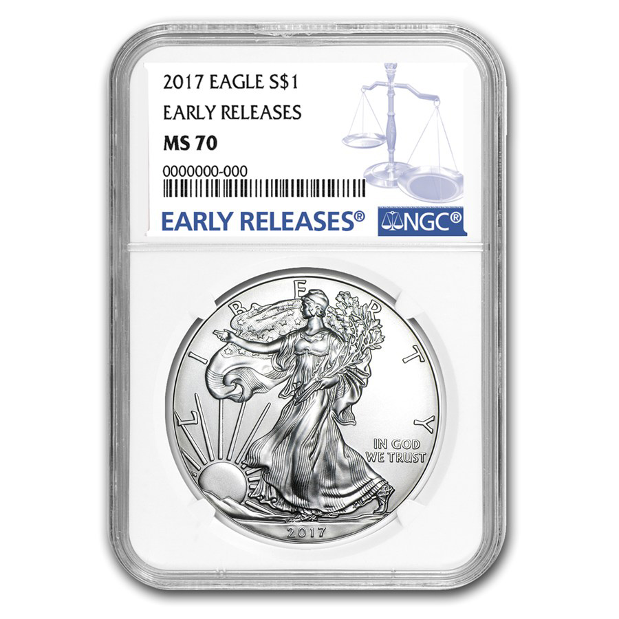 Certified Uncirculated Silver Eagle 2017 MS70 NGC Early Release