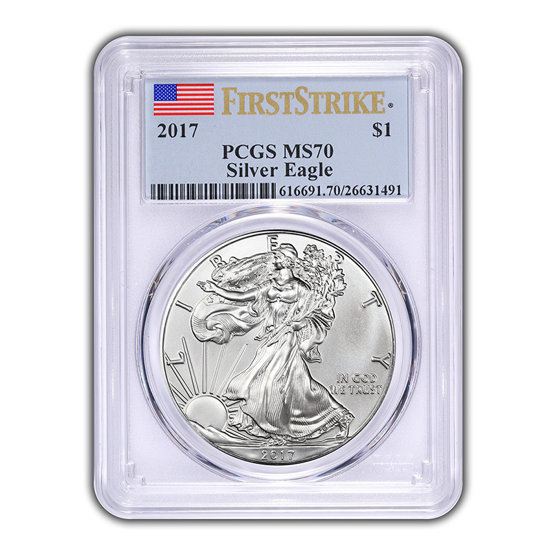 Certified Uncirculated Silver Eagle 2017 MS70 PCGS First Strike