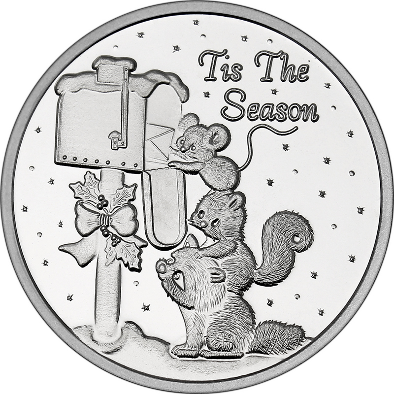 Christmas 2017 Silver Round X-5 Tis The Season