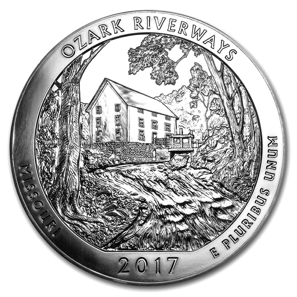 2017 5oz Silver Ozark National Scenic Riverways, MO ATB