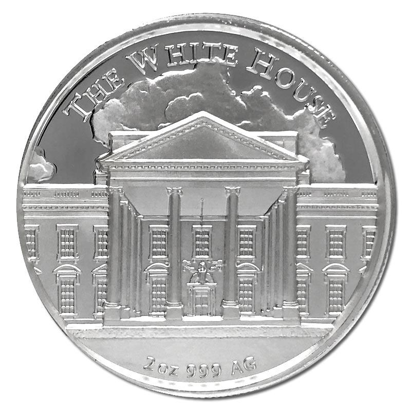 2 Ounce Donald Trump Silver Round Golden Eagle Coins